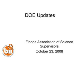 DOE Updates