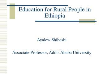 Education for Rural People in Ethiopia