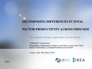DECOMPOSING DIFFERENCES IN TOTAL FACTOR PRODUCTIVITY ACROSS FIRM SIZE