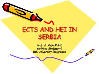 ECTS AND HEI IN SERBIA