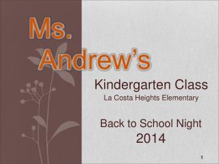 Back to School Night 2014