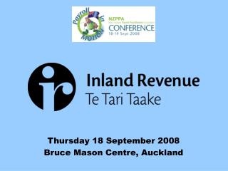 Thursday 18 September 2008 Bruce Mason Centre, Auckland