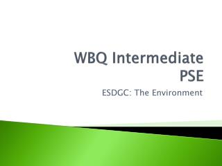 WBQ Intermediate  PSE