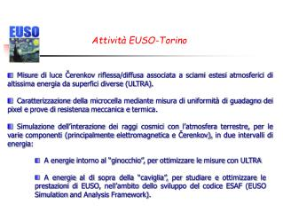 Attività EUSO-Torino