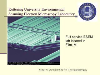 Kettering University Environmental Scanning Electron Microscopy Laboratory