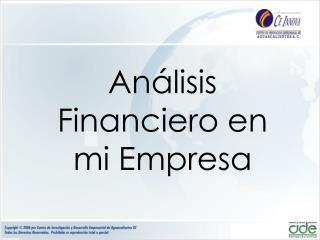 An�lisis Financiero en mi Empresa