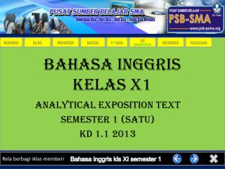 BAHASA INGGRIS KELAS X1