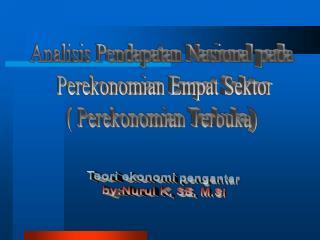 Teori ekonomi pengantar by:Nurul K, SE, M.Si
