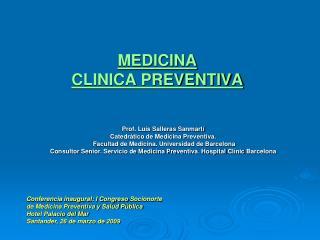 MEDICINA  CLINICA PREVENTIVA