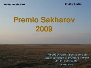 Premio Sakharov 2009
