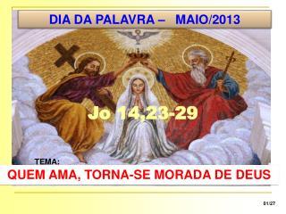 DIA DA PALAVRA – MAIO/2013