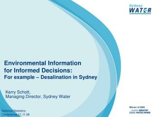 Kerry Schott,  Managing Director, Sydney Water