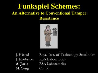 Funkspiel Schemes: An Alternative to Conventional Tamper Resistance