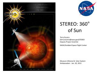 Terry Kucera (terry.kucera@nasa)STEREO Deputy Project Scientist