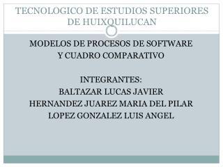 TECNOLOGICO DE ESTUDIOS SUPERIORES DE HUIXQUILUCAN