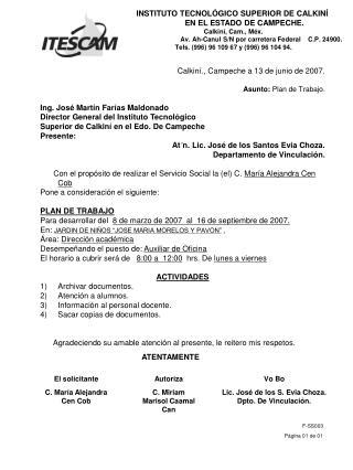 Calkiní., Campeche a 13 de junio de 2007.
