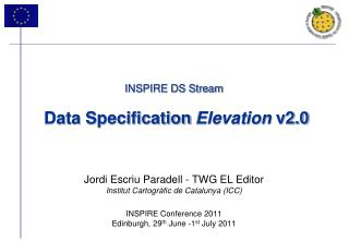 INSPIRE DS Stream Data Specification  Elevation  v2.0
