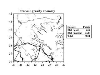 Dataset            Points BGI (land)           224 BGI (marine)     3600