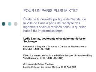 Lydie Launay, doctorante Allocataire-monitrice en Sociologie