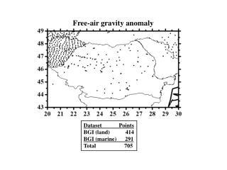 Dataset            Points BGI (land)           414 BGI (marine)      291