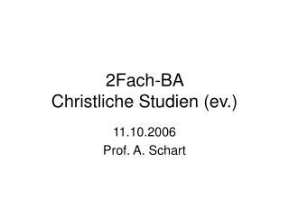 2Fach-BA  Christliche Studien (ev.)