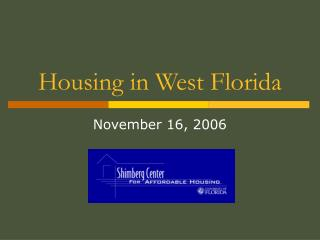 Housing in West Florida