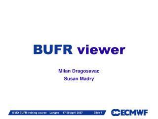 BUFR viewer