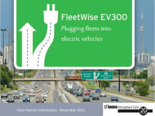 Fleet Partner Information.  November 2011.