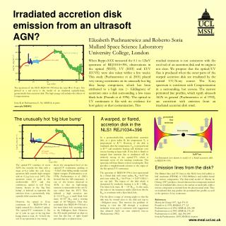 Irradiated accretion disk emission from an ultrasoft AGN?
