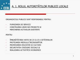 A. 1.  ROLUL AUTORIT ĂȚILOR PUBLICE LOCALE