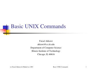 Basic UNIX Commands