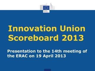 Innovation Union Scoreboard 2013