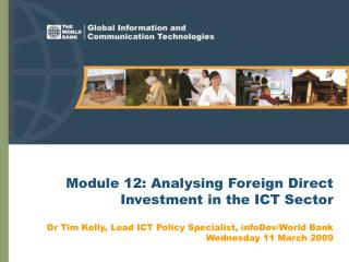 Module 12: Analysing Foreign Direct Investment in the ICT Sector