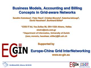 Business Models, Accounting and Billing Concepts in Grid-aware Networks