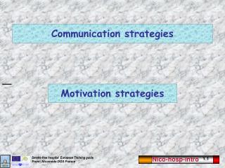 Communication strategies