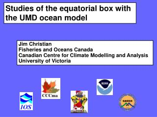 Studies of the equatorial box with the UMD ocean model