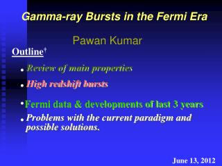 Gamma-ray Bursts in the Fermi Era