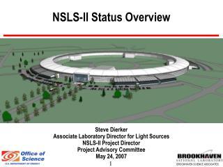 NSLS-II Status Overview