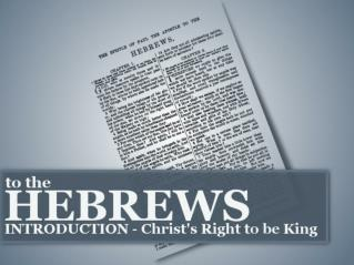 Why was the book of Hebrews written?