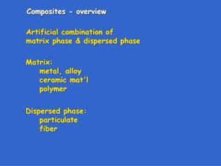 Composites - overview