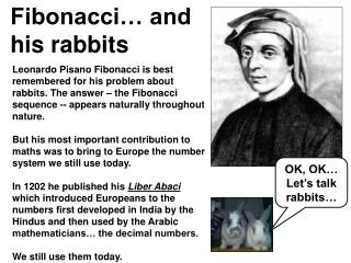 Fibonacci� and his rabbits