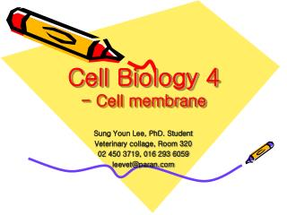 Cell Biology 4 - Cell membrane