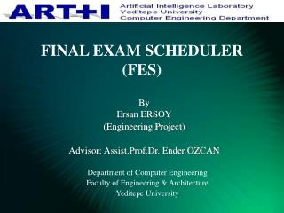 FINAL EXAM SCHEDULER (FES)