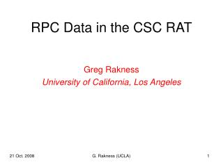 RPC Data in the CSC RAT