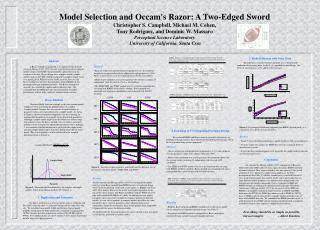 Model Selection and Occam's Razor: A Two-Edged Sword Christopher S. Campbell, Michael M. Cohen,