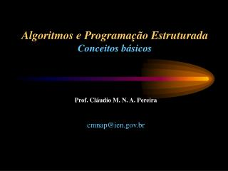 Algoritmos e Programação Estruturada Conceitos básicos