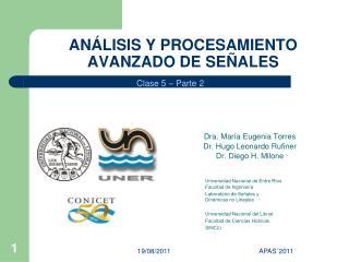 AN�LISIS Y PROCESAMIENTO AVANZADO DE SE�ALES