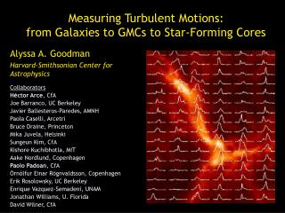 Measuring Turbulent Motions:  from  Galaxies to GMCs to Star-Forming Cores