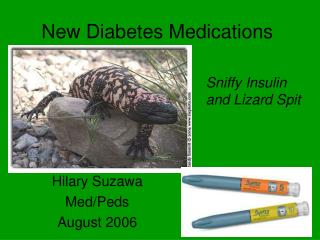 New Diabetes Medications