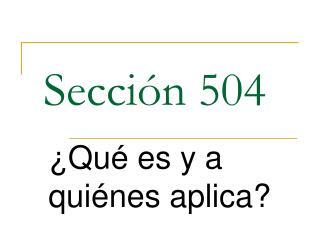 Sección 504